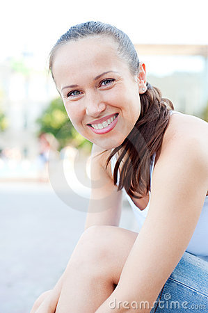 Smiley young woman