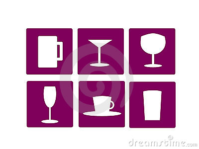 Home furnishing glass icons