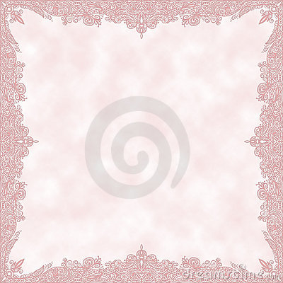 Romantic parchment with decorative border