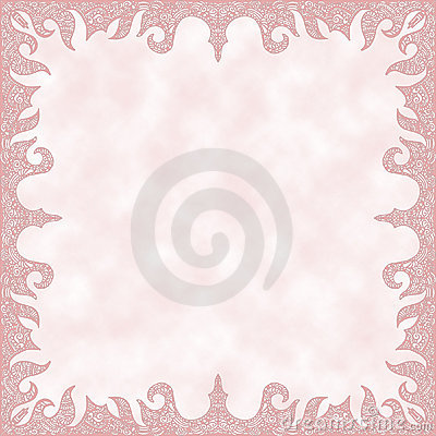 Romantic background with decorative border