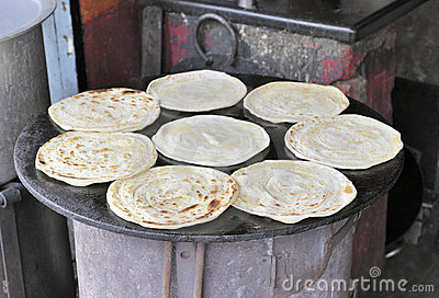 Indian Roti Paratha bread