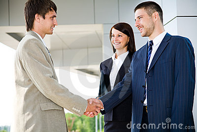Business handshaking
