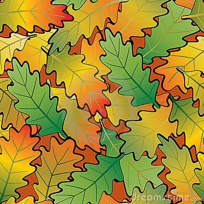 Oak leaf abstract background. Seamless.