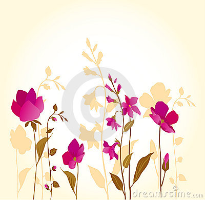 Pink flowers_golden