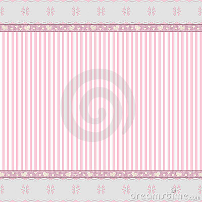 Pink background with lace frame