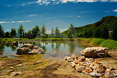 Mineral spring and lake