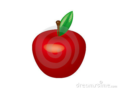 3D apple vector