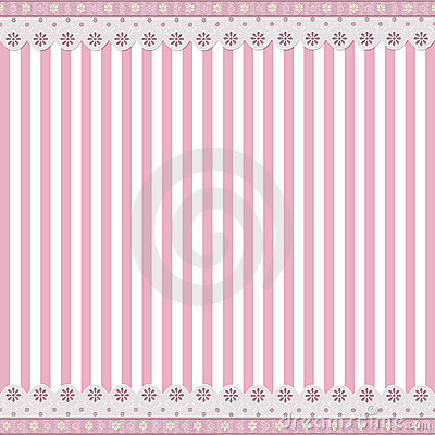Striped background with lace border