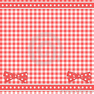 Red background with bows