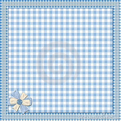 Blue background with lace frame