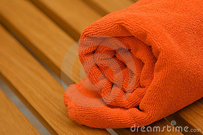 Braided orange towel