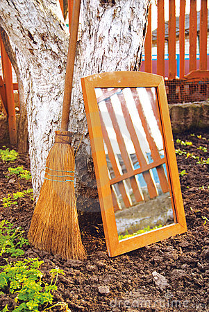 Broom and mirror