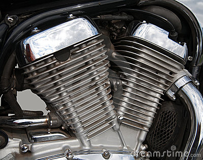 Motorcycle engine close-up