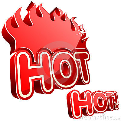 Vector hot sign.