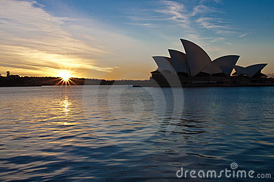 Sunrise over Sydney Opera House, Australia.