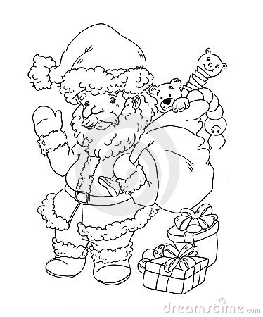 Saint Claus in black e white