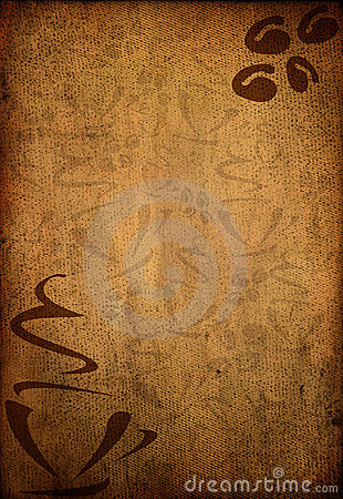 Coffee grungy background