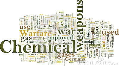 Chemical weapons word cloud