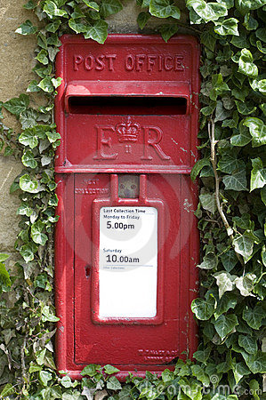 Traditional red letter box i