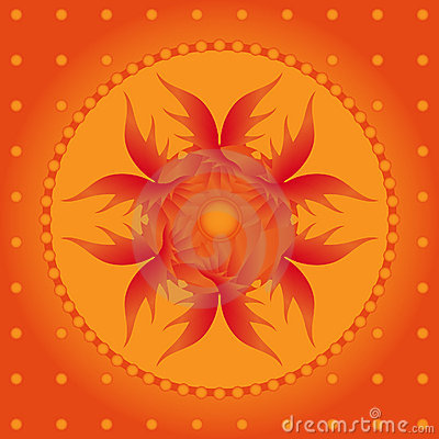 Beautiful orange background