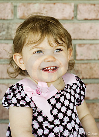 Adorable Little Girl with Big Smile