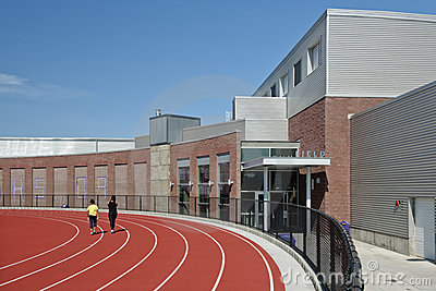 High school running track