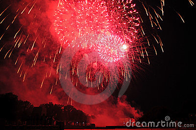 Fireworks on Independence Day