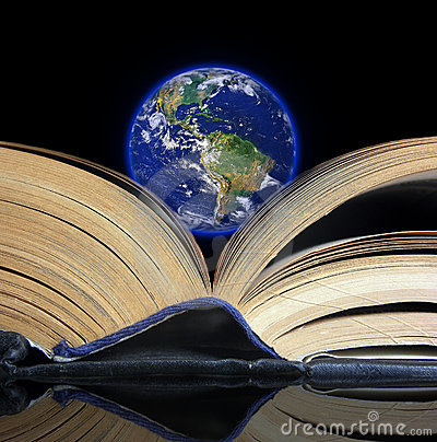 Earth on a book