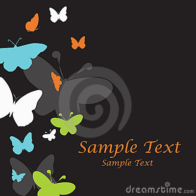 Nice vector template with butterflies