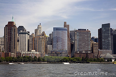 Manhattan skyline from the Hudson