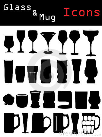 Glass & Mug Icons