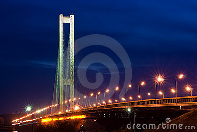 South bridge. Ukraine. Kiev. River Dnepr.