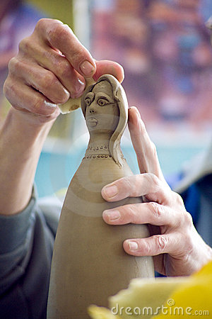 Doll working clay