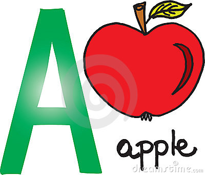 Letter A - apple