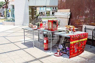 Makeshift Altar for Hungry Ghost Month