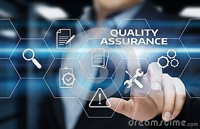 Quality Assurance Service Guarantee Standard Internet Business Technology Concept