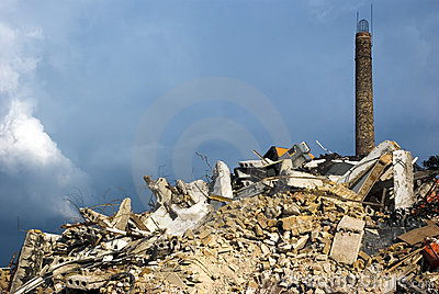 Demolition of factory