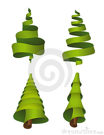Set of Christmas trees - vector
