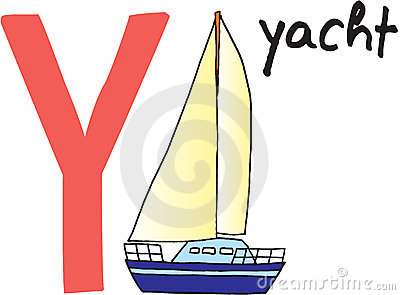 Letter Y - yacht
