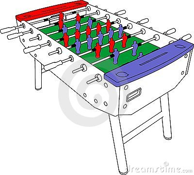 Table Football And Soccer Game Perspective Vector