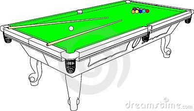 Billiards Snooker Table Perspective Vector 01