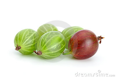 Some green and red gooseberries