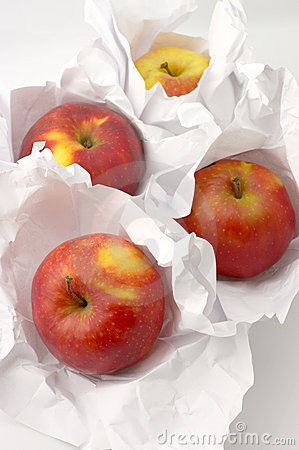 Apples in paper