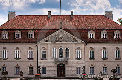 Royal palace in nieborow