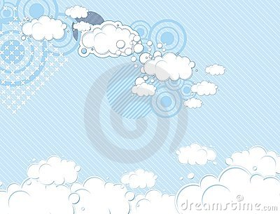 Pop dream sky background