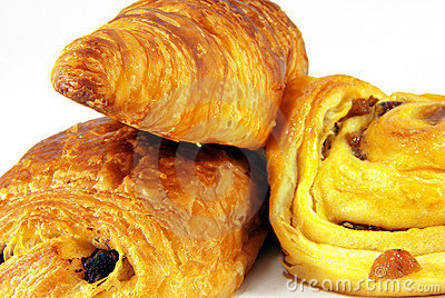 Three French Viennoiseries