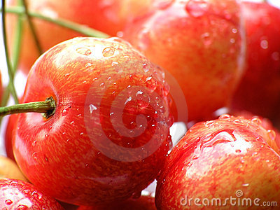 Details of red cherries
