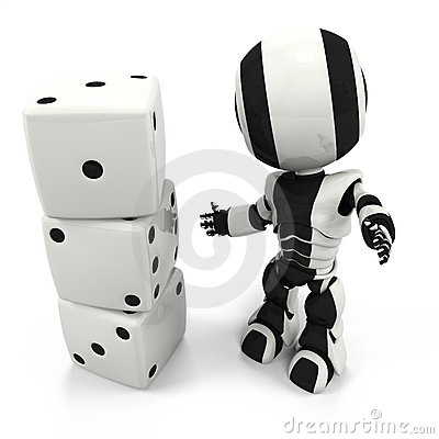 Robot with Dice, Easy as One, Two, Three