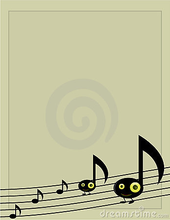 Musical note character background 1