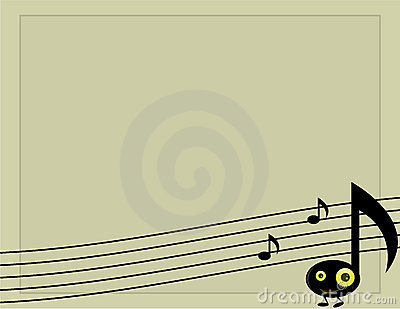 Musical note character background 2